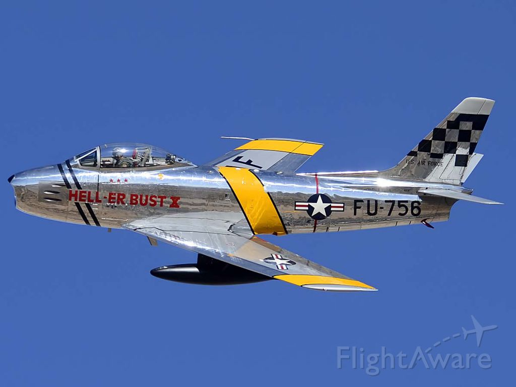 North American F-86 Sabre (NX1F) - North American F-86E Sabre NX1F Hell er Bust at the Air Force Heritage Conference on March 4 2012.