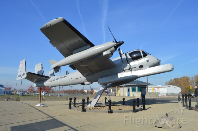 Grumman AO-1 Mohawk (6718926) - Mohawk #926 on display outside the Army National Guard Aviation Support Facility in Salem, Oregon. Restored by volunteers of The Mohawk #926 Project and dedicated for display on November 2, 2019. Mohawk #926 is a piece of Oregon history, as it was based at Salem from 1973 to 1989 and served in a variety of roles while with the 641st Military Intelligence Battalion, including the monitoring of Mount Saint Helens for the USGS before and after the 1980 eruption.