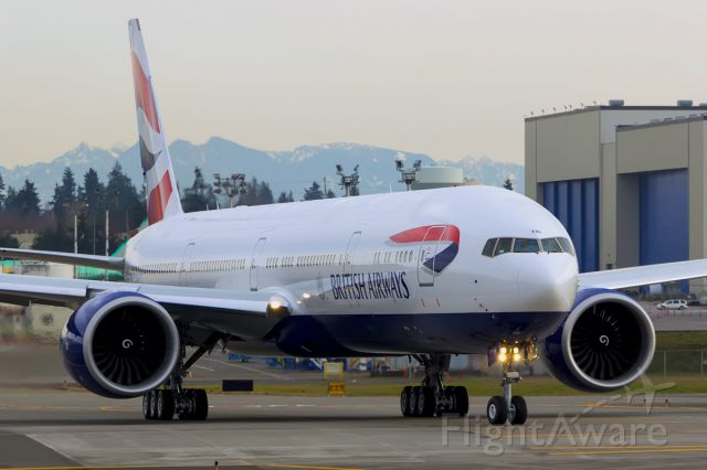 Boeing 777-200 (G-STBI) - British Airways B777-336(ER) G-STBI took to the skies for the very first time today.
