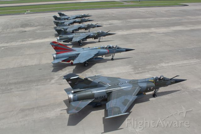 DASSAULT-BREGUET Mirage F1 (N618AX) - Summer 2020 shot of a fleet of F1 Mirages