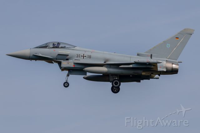 "EUROFIGHTER Typhoon — - 31+18 - Eurofighter EF-2000 Typhoon - German Air Force<br />TaktLwG 73 ""Steinhoff"""