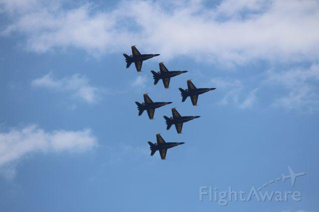 Boeing Hornet — - Blue Angels flyover Chicago on 5-12-2020