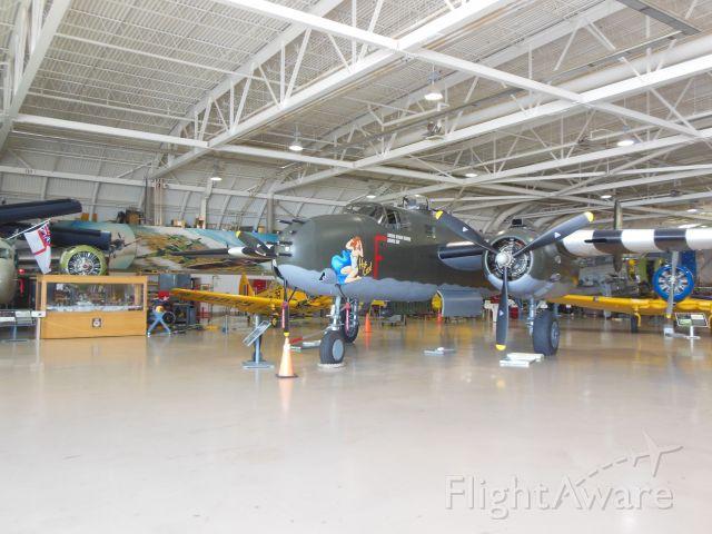 "North American TB-25 Mitchell (C-GCWM) - Canadian Warplane Heritage Museum, Hamilton, Ontario, Canada North American B-25 Mitchell, 8 gun nose, ""Hot Gen"""