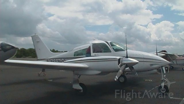 Cessna 310 (N7667Q) - Here is a photo of the Cessna 310 N7667Q after a flight around Connecticut.