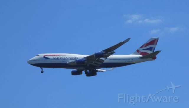 Boeing 747-400 (G-BYGF) - Shown here on approach is a British Airway Boeing 747-400 in the Summer of 2018.