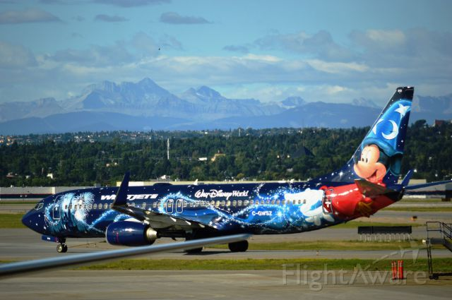 Boeing 737-700 — - off Calgary to see Mickey.