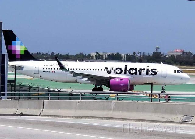 XA-VRI — - Volaris A320 Neo departs LAX  for GDL.
