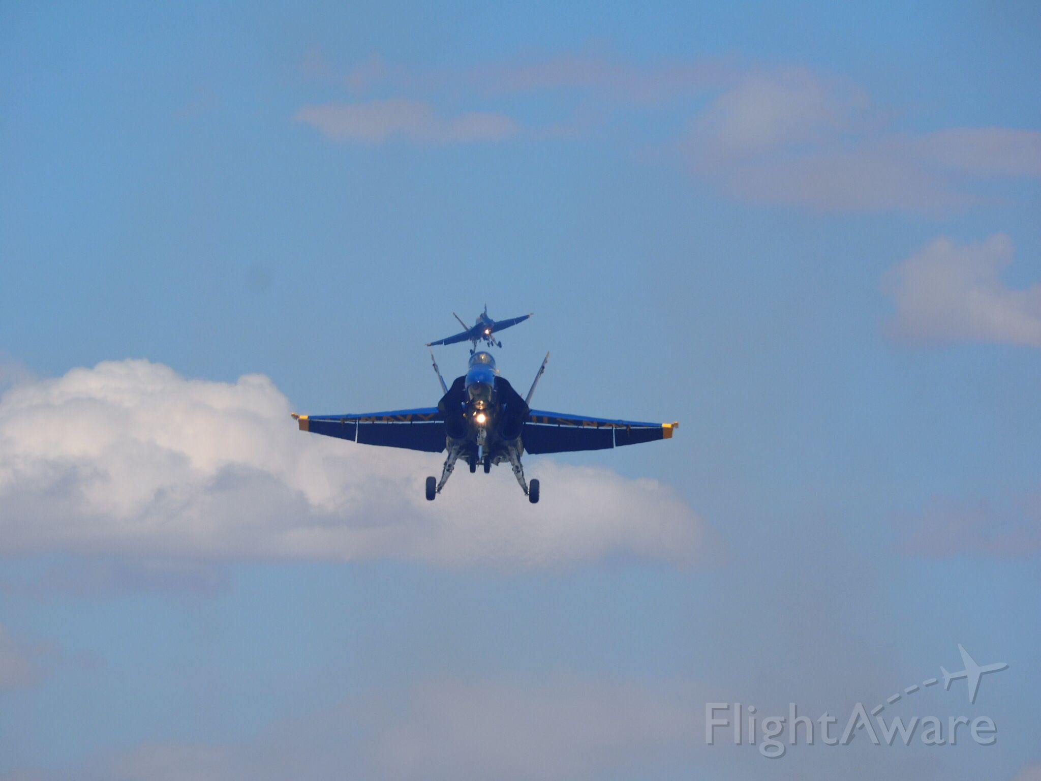 — — - At Luke AFB March 15 2017. North end of the Runway.  Two days before Luke Air Force day.  Lo and behold here comes the Blue Angels in.  What a great day.