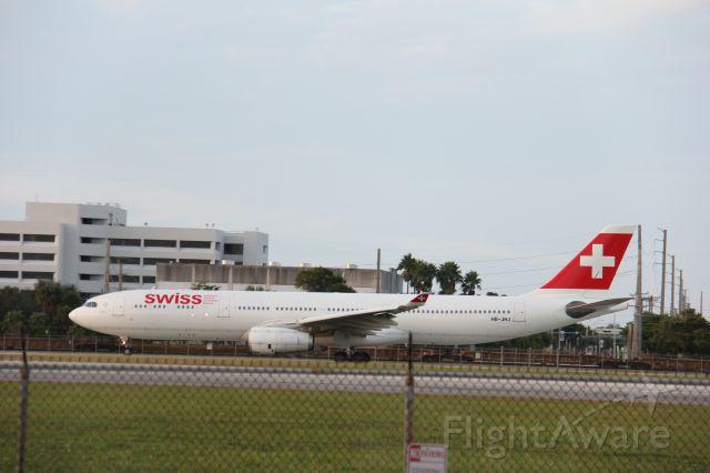 Airbus A330-300 (HB-JHJ) - 10/25/15