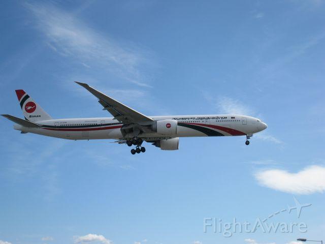 BOEING 777-300ER (S2-AHM) - Bangladesh 777 landing at Heathrow