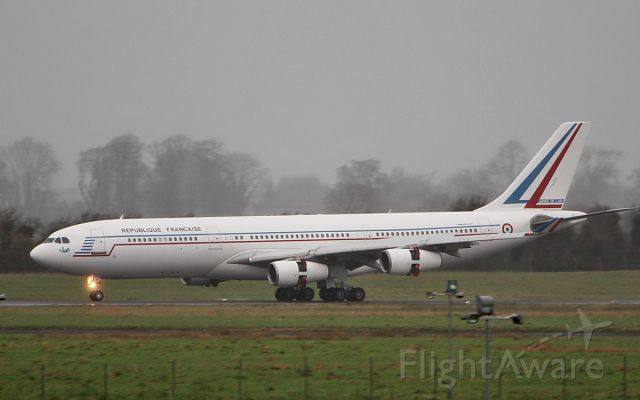 Airbus A340-200 (F-RAJB) - french air force a340-212 f-rajb landing in shannon from the azores 15/1/19.