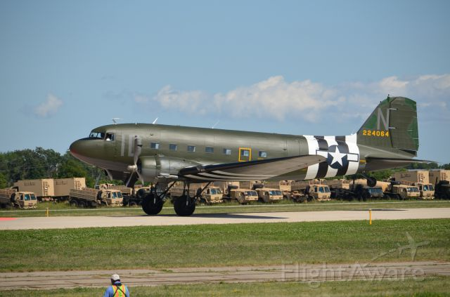 — — - EAA 2011 C-47 on take off roll.