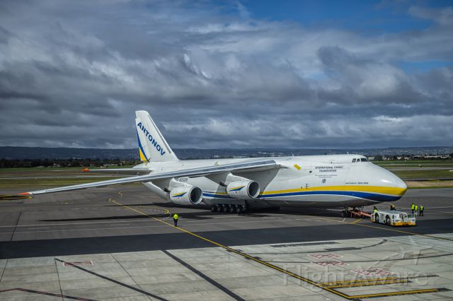 Antonov An-124 Ruslan (UR-82029) - After its short visit in Adelaide delivering flight simulators for the RAAF, it was time for the Antonov to fly out.