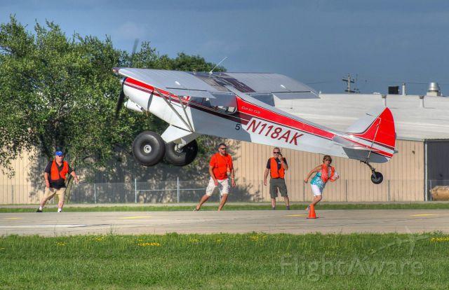 Piper L-21 Super Cub (N118AK) - Competing in the STOL event at Oshkosh 2015