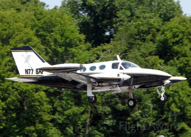 Cessna Chancellor (N778AF) - Landing on 14.