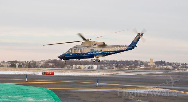 Sikorsky S-76 (N72EH) - Boston Med Flight in action @ KBOS Logan on FlightAware.Com !
