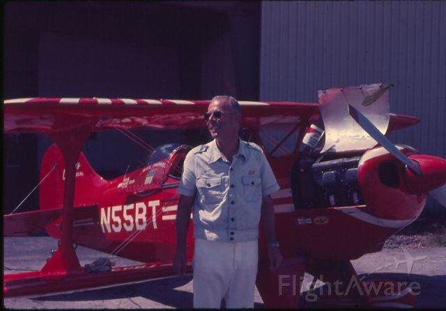 PITTS Special (S-1) (N55BT) - Bill Thomas at New Tamiami Airport, Spring 1973.