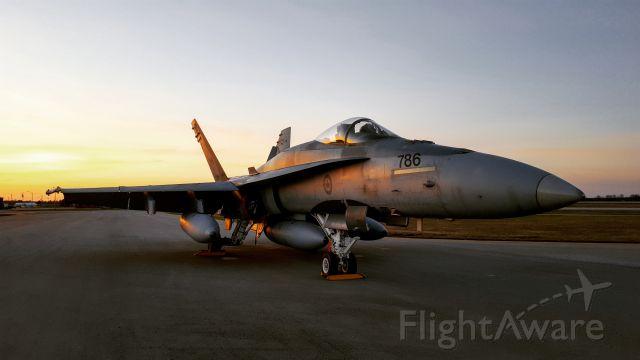 McDonnell Douglas FA-18 Hornet (18-8786) - CF-18 Hornet sunset