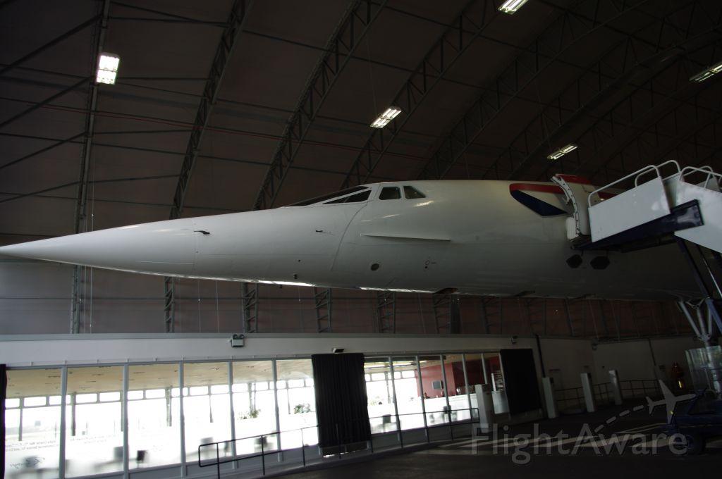 Aerospatiale Concorde (G-BOAC) - Concorde G-BOAC at Manchester