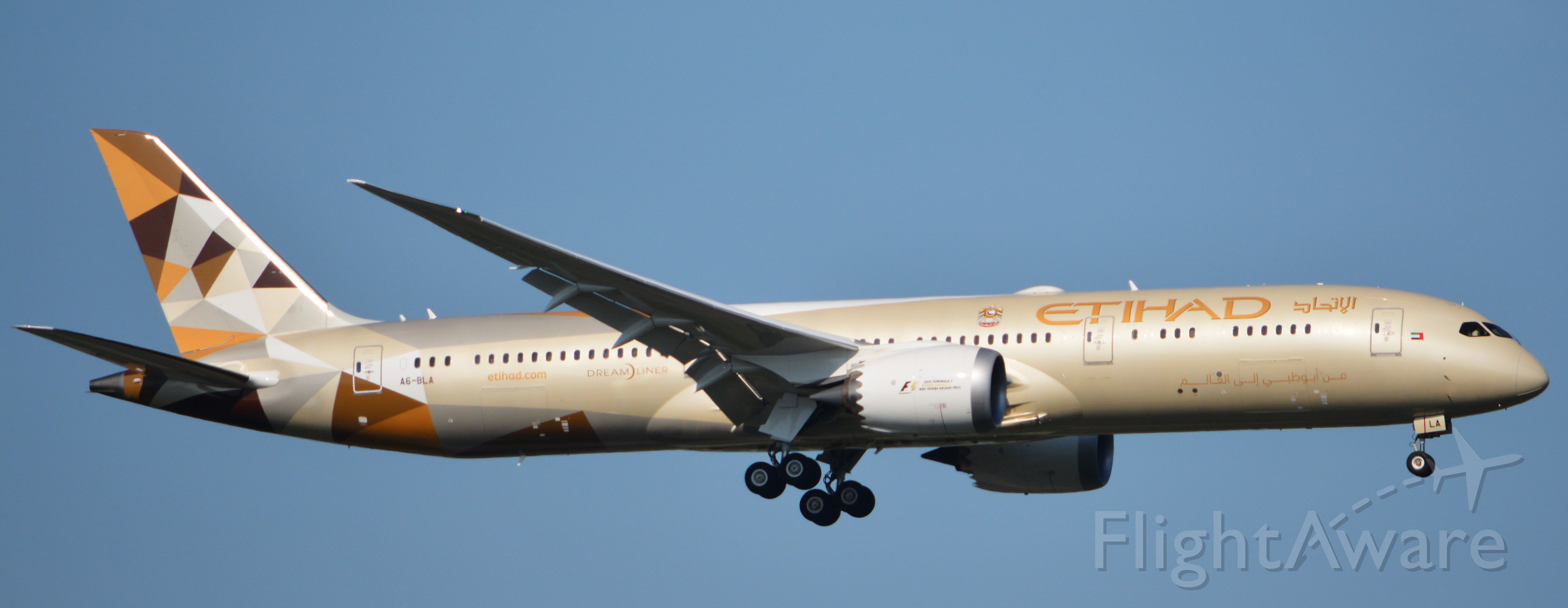 Boeing 787-9 Dreamliner (A6-BLA) - Final to RWY 19C