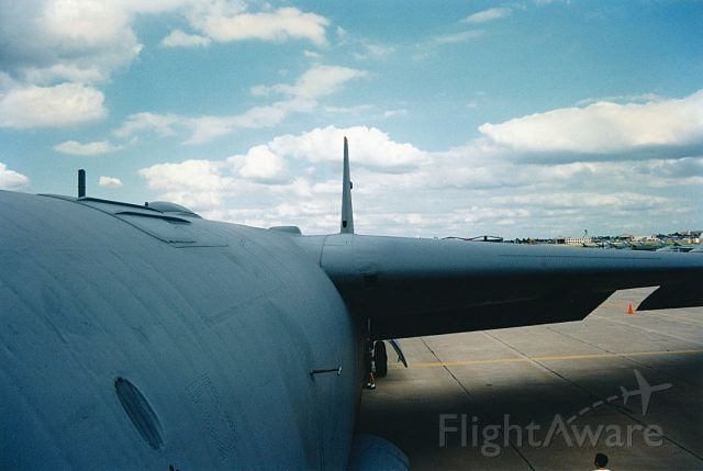 60-0028 — - Looking down the spine of B-52H at an Air Power Air Shown in KOKC