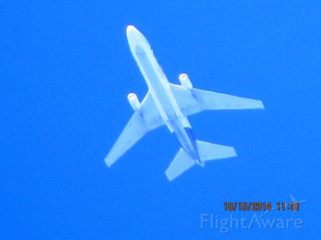 McDonnell Douglas DC-10 (N311FE) - FedEx flight 630 from SEA to MEM over Southeastern Kansas at 35,000 feet.