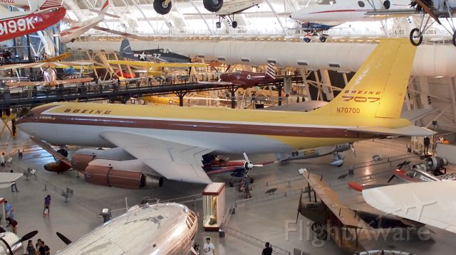 Boeing 707-100 (N70700) - At the National Air and Space Museum annex at Dulles