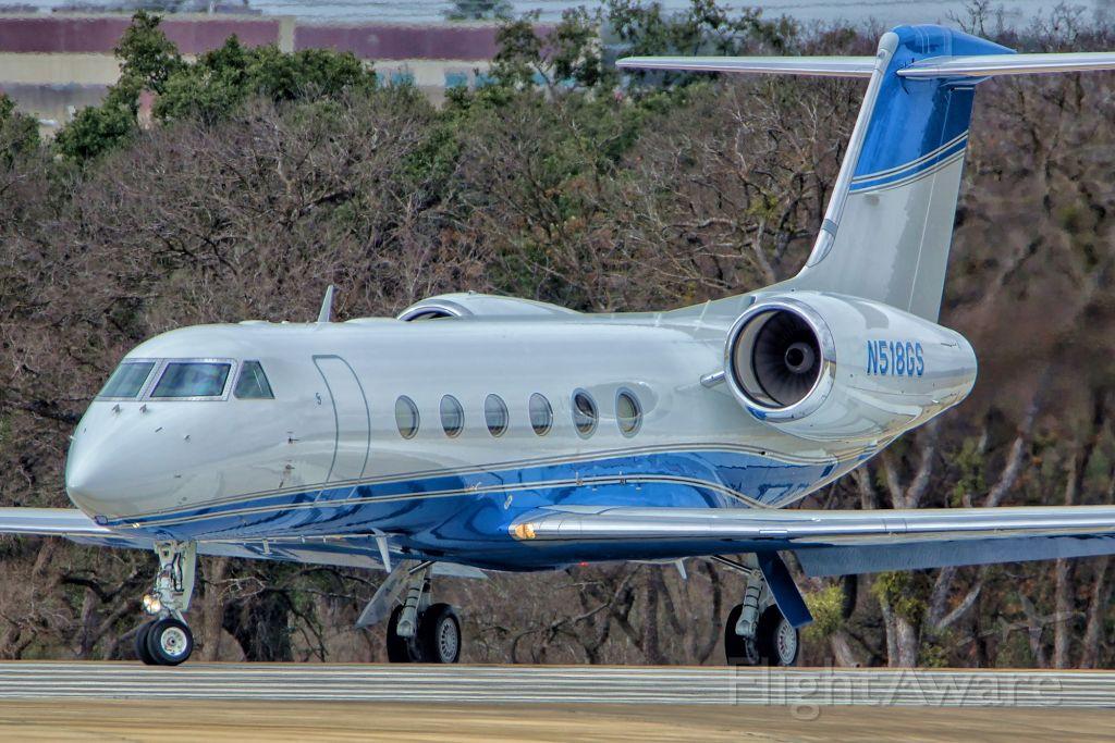 Gulfstream Aerospace Gulfstream IV (N518GS) - George Straits new G450 turning onto 22 for departure.