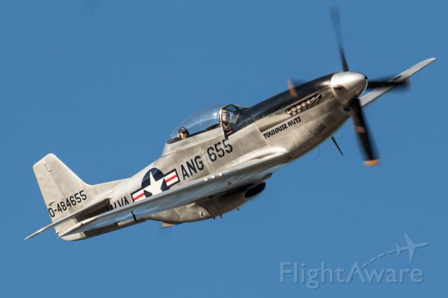 NL55ICF — - Collings Foundation TF-51D Mustang in the circuit over Destin, Florida.