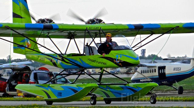 LOCKWOOD Air Cam (N760JJ) - A very interesting AirCam taxing in at EAA AirVenture 2015!