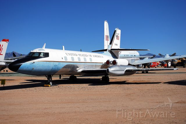 Cessna 140 (61-2489) - VC-140B Jetstar on display at the Pima Air and Space Museum, next to Davis-Monthan AFB.