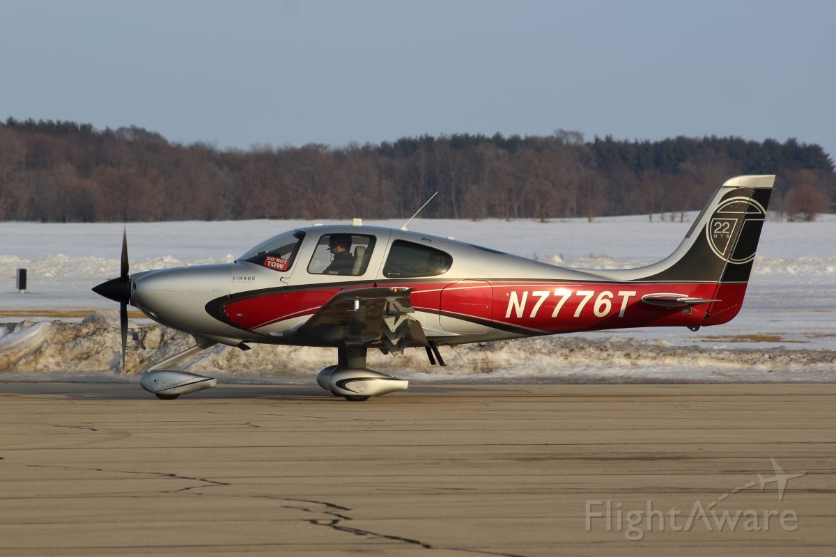 Cirrus SR-22 (N7776T) - Whiteside Co. Airport 25 February 2021<br />This fantastic looking Cirrus SR22T popped in in the late afternoon.<br />Gary C. Orlando Photo