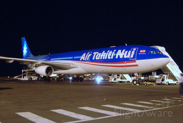 "Airbus A340-300 (F-OJTN) - Air Tahiti Nui AirBus A340-313(F-OJTN) ""BoraBora"" at Papete"