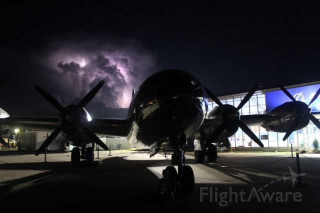 Boeing B-29 Superfortress (N69972) - Superfortress B-29 Doc & a super storm to the south of Oshkosh.