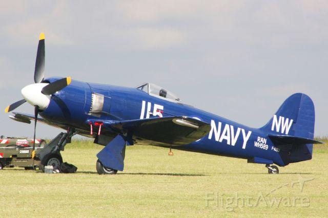 F-AZXJ — - Hawker Sea Fury FB 11, Cambrai-Niergnies Airfield (LFYG)