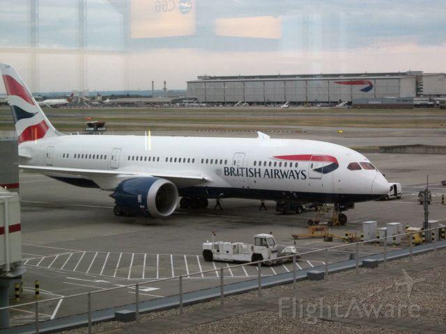 Boeing Dreamliner (Srs.8) (G-ZBJG) - BAW Dreamliner parked outside Heathrow Terminal 5