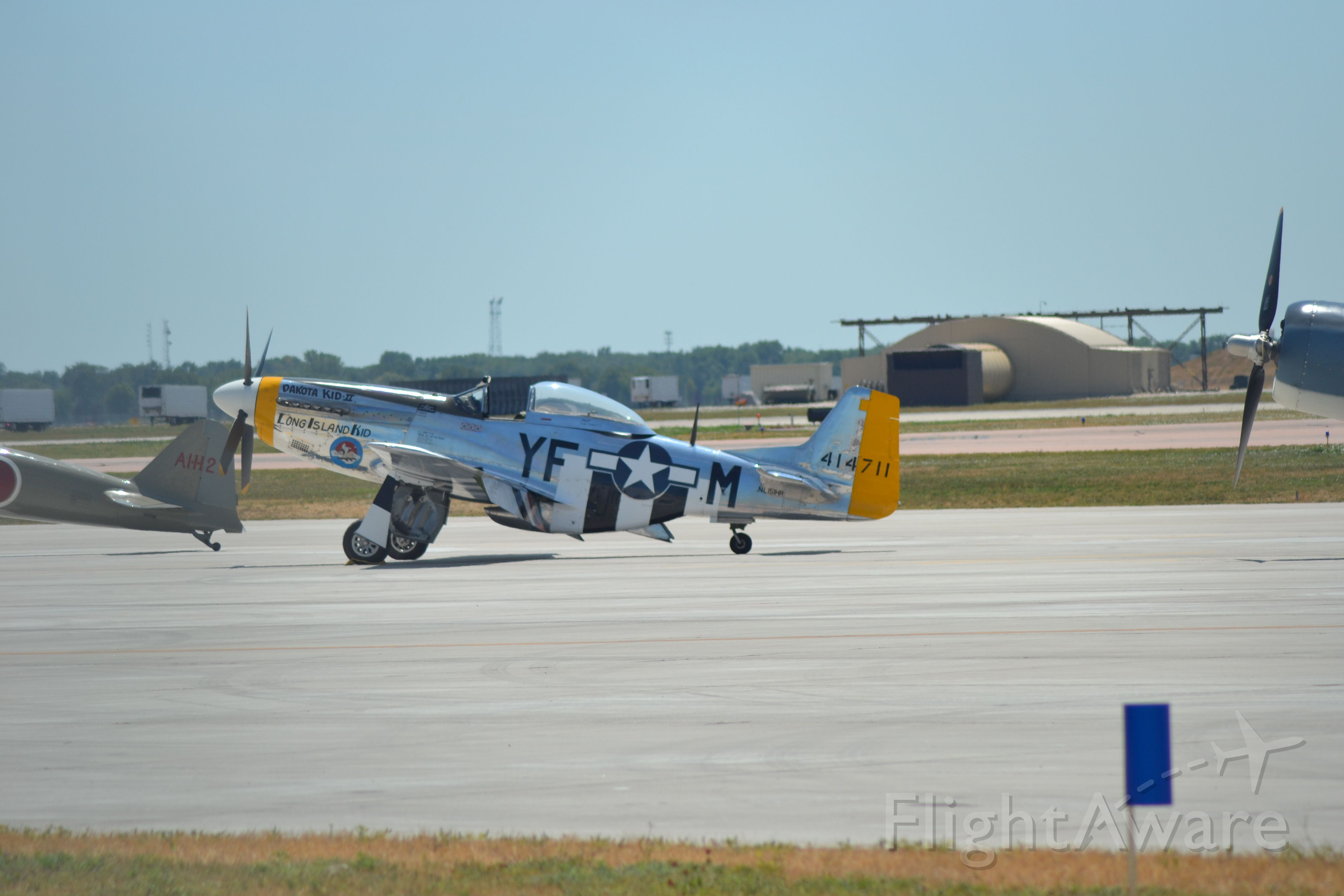 North American P-51 Mustang (N151HR) - P-51 sitting on the tarmac in KFSD