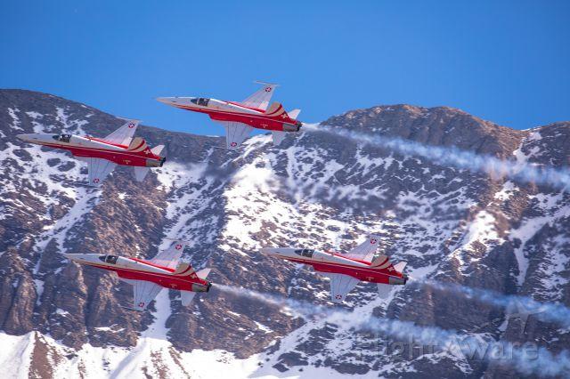 Northrop RF-5 Tigereye (J3090) - Swiss Air Force<br />Patrouille Suisse (F-5/E, J-3083, J-3084, J3085, J-3090) at Axalp shooting range