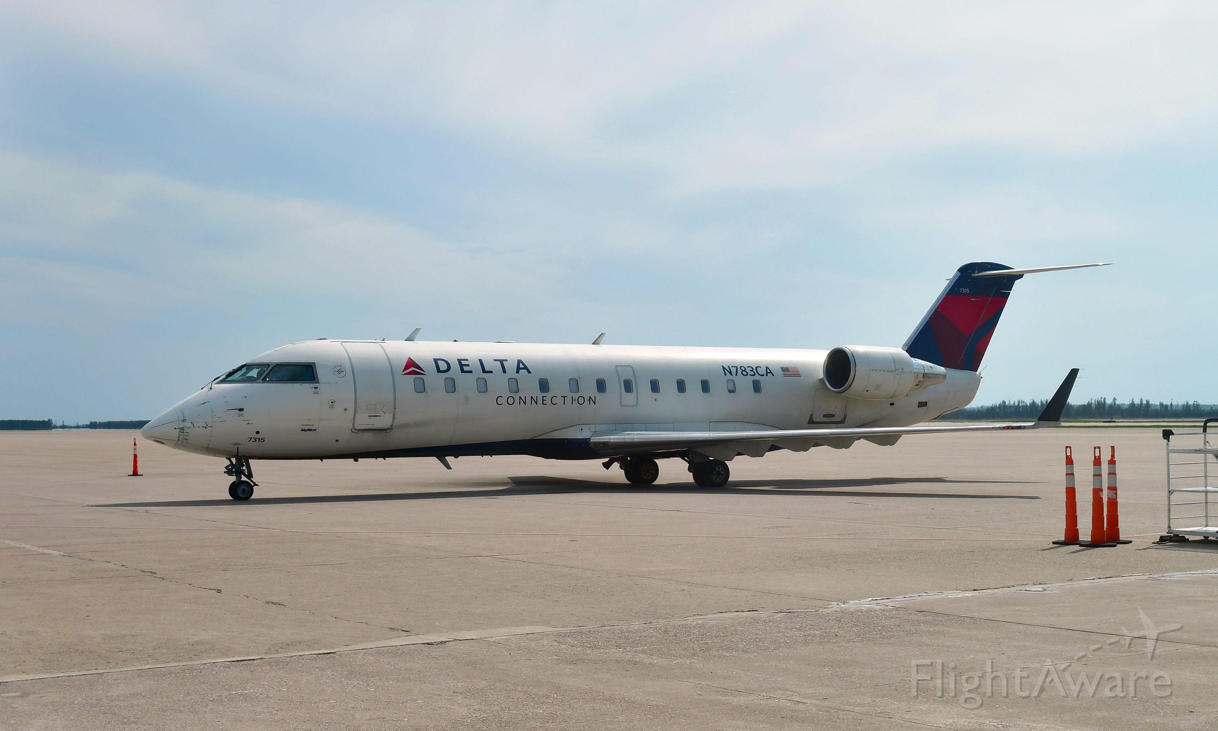 Canadair Regional Jet CRJ-100 (N783CA) - Delta Bombardier CRJ-100ER N783CA in Marquette, MI