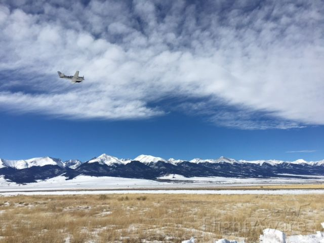 Beechcraft King Air 90 (N273NA) - Departure from Westcliffe, Colorado on a pretty day.