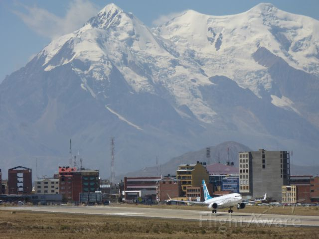 — — - 737 MAX 8 high altitude flight testing in La Paz, Bolivia