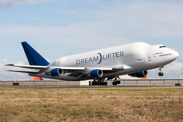 Boeing 747-400 (N747BC) - Dreamlifter departing Paine Field for Japan.