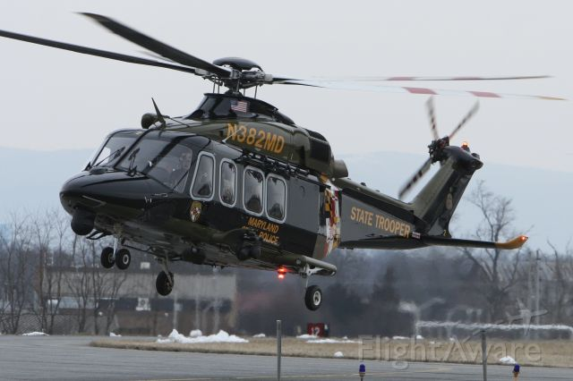 BELL-AGUSTA AB-139 (N382MD) - February 10, 2021 - landed Frederick from Baltimore