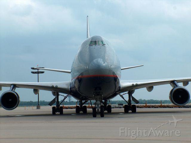 Boeing 747-400 (N127UA) - UAL B747-400 at KRFD