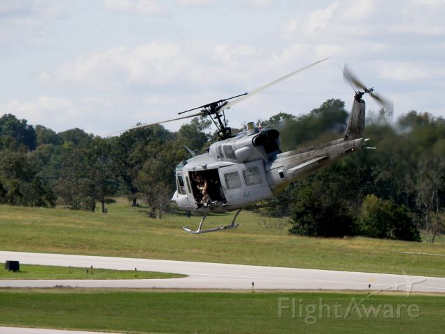 Bell VH-1 (15-8781) - A UH-1N Huey (158781) of Marine Light Attack Helicopter Squadron (HMLA) 167 based at MCAS New River, NC (KNCA) seconds after take-off at Capitol City Airport (KFFT).  Marines of the 24th Marine Expeditionary Unit were training prior to an upcoming deployment.