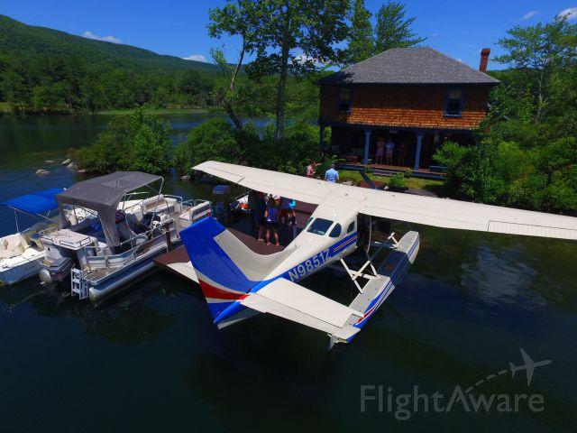 Cessna T206 Turbo Stationair (N9851Z) - Squam Lake NH Carns Cove.  (Courtesy of Ryan Grady Drone Flights)
