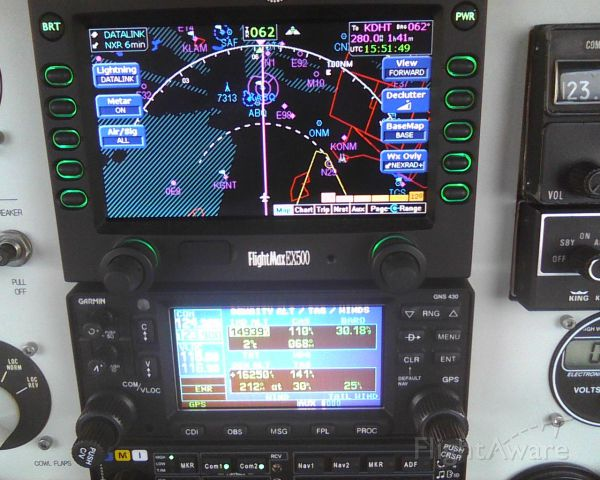 Rockwell Commander 114 (N4645W) - Eastbound 15-thousand 168kt groundspeed