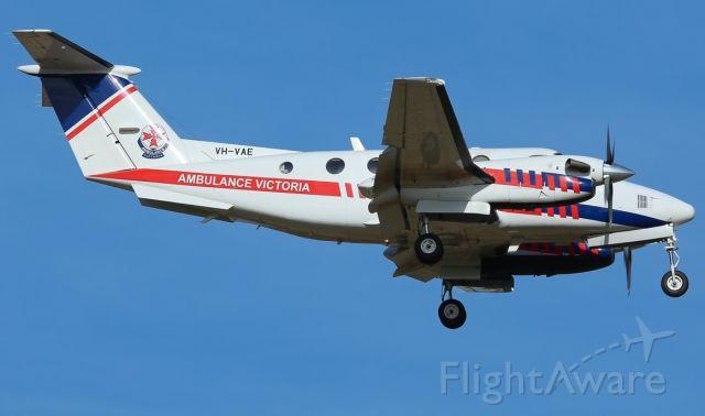 Beechcraft Super King Air 200 (VH-VAE) - Ambulance Victoria Beechcraft Super King Air 200 near Swan Hill Aerodrome