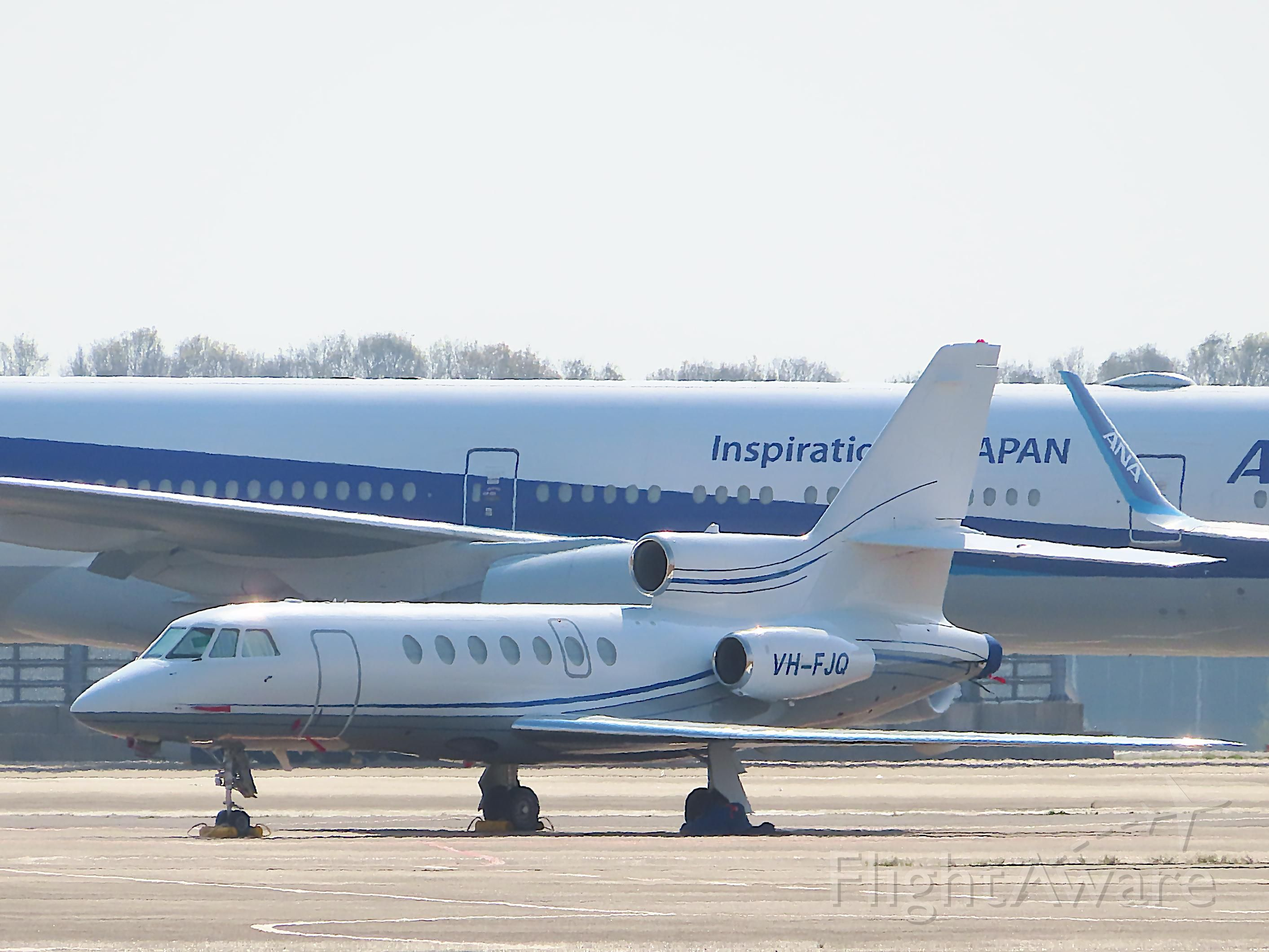 Dassault Falcon 5X (VH-FJQ) - I took this picture on Apr 26, 2020.