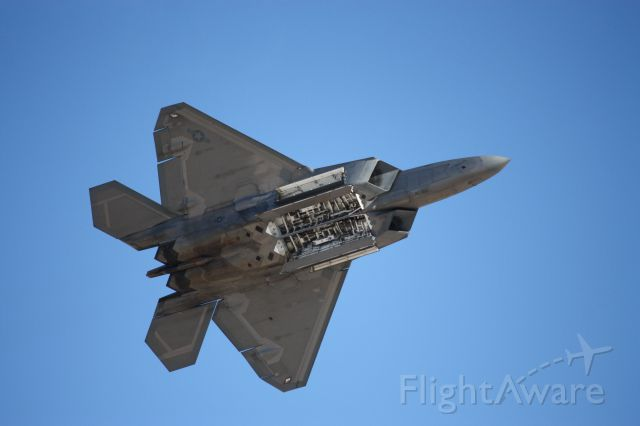 — — - F-22 Raptor at Aviation Nation, bombs away!!